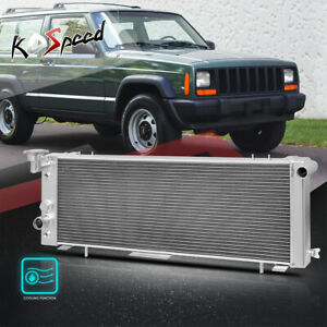 3 row Aluminum Core Racing Cooling Radiator For 91 01 Jeep Cherokee Comanche