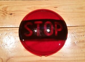 Vintage Glass Stop Lens Ls 321 Red Gm Truck Rat Rod Fire Classic 50 S Ls 321 Usa