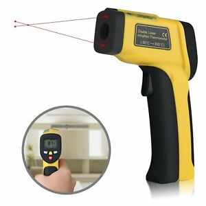 Dual Laser Infrared Thermometer Instant Read Non contact Digital Temperature Gun