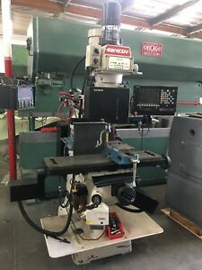 Ganesh Gmv 1 Cnc Knee Mill 3 Axis Cnc With Sony Nu20 Control