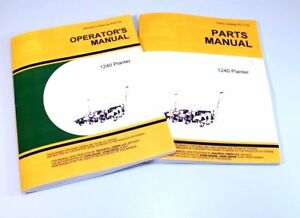 Operators And Parts Manual For John Deere 1240 Planter Owners Catalog Seed Plate