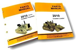 Parts Manual For John Deere 2010 Crawler Loader Tractor Catalog Exploded Views