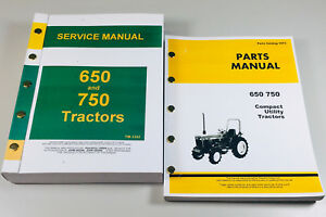 Service Manual Set For John Deere 650 750 Tractor Parts Catalog Technical Shop