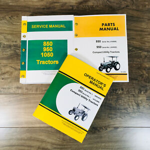 Service Manual Set For John Deere 850 950 Tractor Parts Operators Catalog Shop