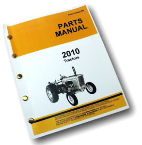 Parts Manual For John Deere 2010 Tractor Catalog Exploded Views Assembly