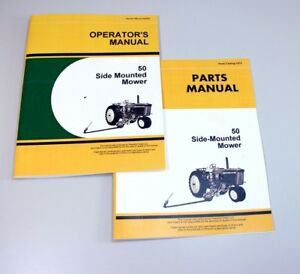 Operators Parts Manuals For John Deere 50 Side Mounted Mower Owner Parts Catalog