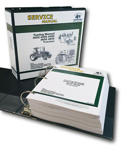 Testing Service Manual For John Deere 4050 4250 4450 4650 4850 Tractor Repair