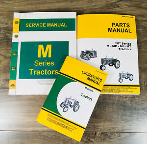 Service Manual Set For John Deere M Tractor Parts Owner Tech Repair Operator