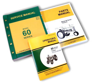 Service Manual Set For John Deere 60 Tractor Standard And Orchard Parts Operator