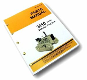 Parts Manual For John Deere 2010 Crawler Tractor Catalog Exploded Views Assembly