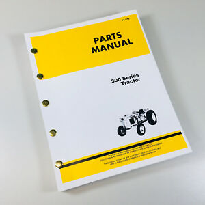 Parts Manual Catalog For John Deere 300 Jd300 Industrial Wheel Tractor Turf