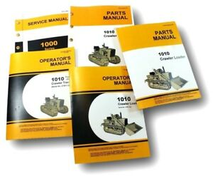Service Manual Set For John Deere 1010 Crawler Loader Operators Parts Catalog