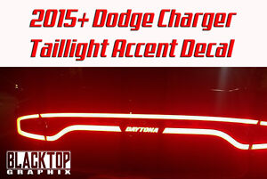 New Dodge Charger Taillight Accent Decal 2015 Hellcat Scat Pack Mopar Srt Rt