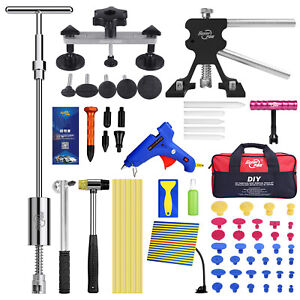 Pdr Tools Paintless Dent Repair Puller Lifter Hail Removal T Bar Hammer Tap Kits
