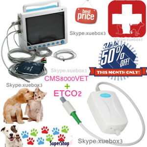 Contec Brand New Veterinary Portable Patient Monitor Cms8000vet Etco2 Module
