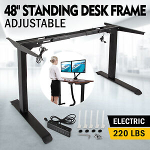 Electric Standing Desk table Dual Motor Frame Base Sit stand Lift