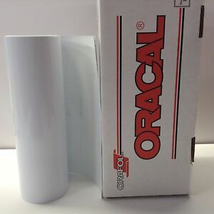 Oracal 651 1 Roll 12 X 30 Ft White Gloss 010 Vinyl For Craft Sign Cricu