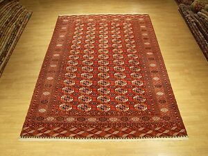 7 X 10 Very Fine Handmade Antique Tekke Turkoman Collectable Vintage Wool Rug