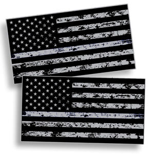 Distressed Black Ops American Flag Sticker Subdued Usa Car Vehicle Grunge Decal