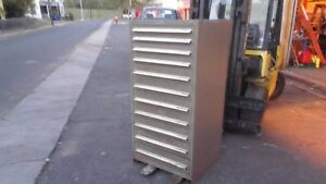 Nu era Tool Cabinet 11 Drawer W 35 Dividers Good Condition