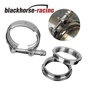 Universal 3 Inch Stainless Steel V Band Turbo Downpipe Exhaust Clamp Vband 76mm