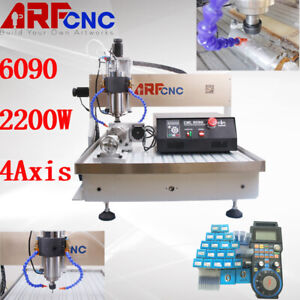 4axis Usb 6090 2 2kw Vfd Cnc Router Engraving Milling Drilling Machine Engraver