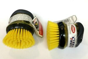 Two Home Car Wheel Tires Stiff Bristle Wash Brush With Soap Dispenser Palm Pump