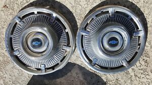 1965 Chevrolet Chevy Belair Impala Biscayne Nomad Hubcaps Vintage Pair Of 2
