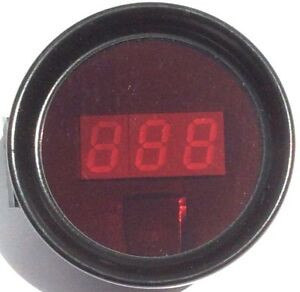 Cyberdyne Gauge Digital Water Temperature With Memory Red 2 1 16 Dia A220e060n