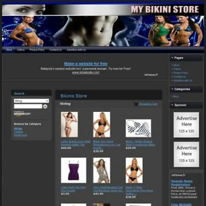 Bikini Store Complete Ready Made Affiliate Website Amazon adsense dropship