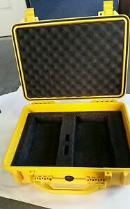 Original Pelican 1520 Yellow Case For Trimble Gps Base Equipment w Foam