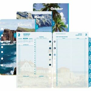 Day timer Coastlines 2ppd Planner Refill Daily 1 Year January 2018