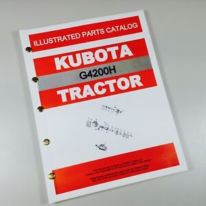 Kubota G4200h Tractor Parts Manual Catalog Garden Lawn Mower Exploded Views Book