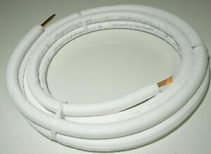 New 1 2 x 25 ft Copper Tubing Refrigeration Pipe tubing Pre insulated Hvac