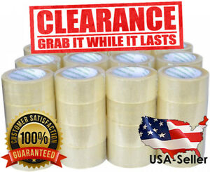12 Rolls Clear Tape 2 Inch X 110 Yards 330 Ft Packing Packaging Box Sealing New