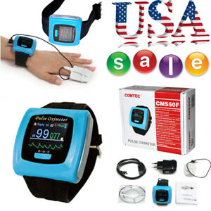 Fda Wrist Finger Pulse Oximeter Sleep Study Spo2 Blood Oxygen Heart Rate Monitor