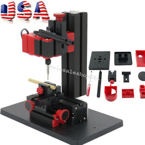 6 In1 Mini Tool Jig saw Drilling Sanding Wood turning Lathe Milling Metal Lathe