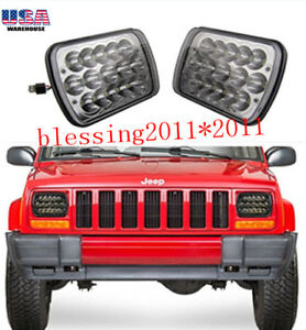 Led Headlights For 1986 1995 Jeep Wrangler 1984 2001 Cherokee 1 Pair New Aaa