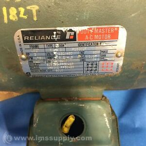 Reliance Electric P18g11f Hp3 Hz60 Phase3 Rpm1730 Ac Motor Usip