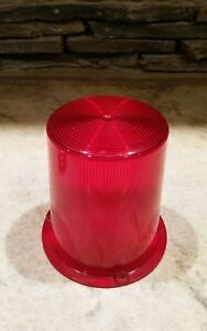 Vintage Do Ray No 251 Red Lens Emergency Fire Truck Revolving Strobe Light Lens