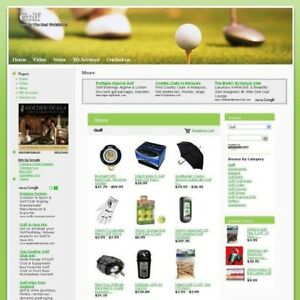 Established High Potential Golf Sport Store Affiliate Business Website For Sale