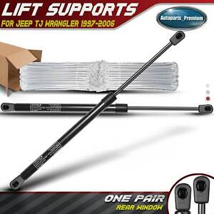 2x Rear Window Glass Lift Supports Struts For Jeep Wrangler Tj 97 06 W Hardtop
