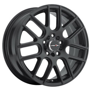 14 Inch 14x5 5 Vision 426 Cross Matte Black Wheel Rim 4x100 38