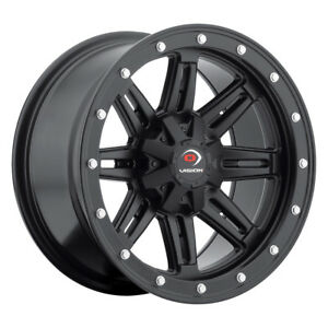 14 Inch 14x7 Vision 550 Five Fifty Matte Black Wheel Rim 4x110 3