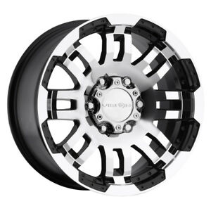 14 Inch 14x5 5 Vision 375 Warrior Black Machined Wheel Rim 5x4 5 5x114 3 0
