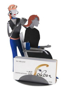 Hair Stylist Recycled Metal Business Card Holder