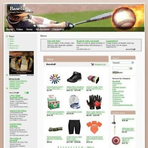 Establised Baseball Store Online Affiliate Business Website For Sale Free Domain