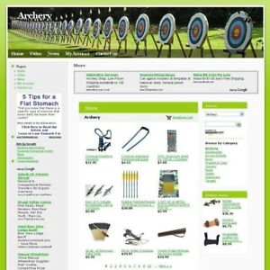 Established Archery Online Affiliate Business Website For Sale Free Domain Name