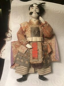 Antique Vintage Japanese Gofun Ningyo Hima Kimekomi Doll 9 Tall