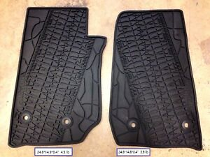 2007 2017 Jeep Wrangler Rubber Slush 2 Door Floor Mats fits Jeep Wrangler
